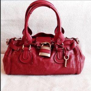 Auth CHLOE Paddington Leather Shoulder Bag Italy